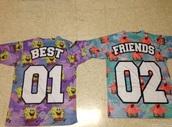 t-shirt,spongebob,patrick,best friend shirts,jersey,colorful,kids fashion