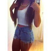 t-shirt,shorts,jeans short highwaisted