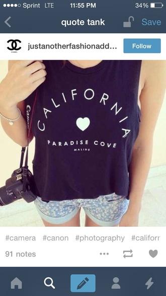 tank top california cali top shirt tumblr outfit