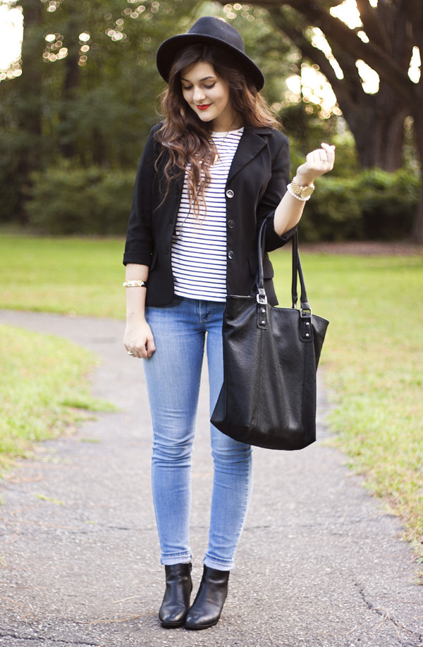 a walk in the park hat jacket shirt jeans shoes bag jewels
