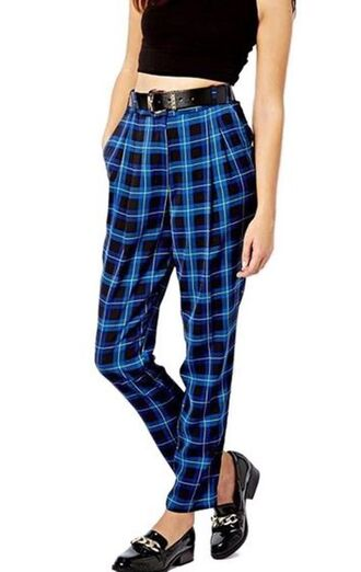 blue pants harem pants pajama pants blue plaid plaid pants www.ustrendy.com pants