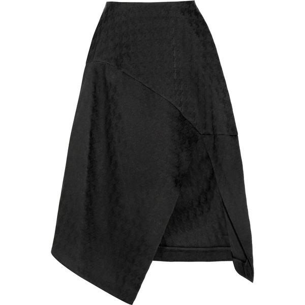Stella McCartney Houndstooth cotton-blend jacquard midi skirt