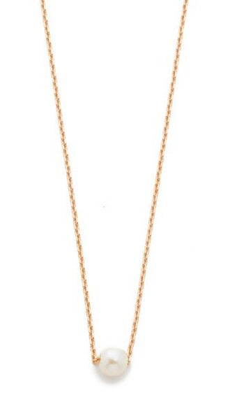 rose gold rose pearl necklace gold jewels