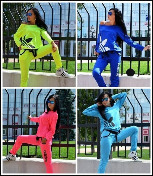 sweater off the shoulder off the shoulder sweater jumpsuit style pants adidas neon tracksuit longsleeve sportswear jumper