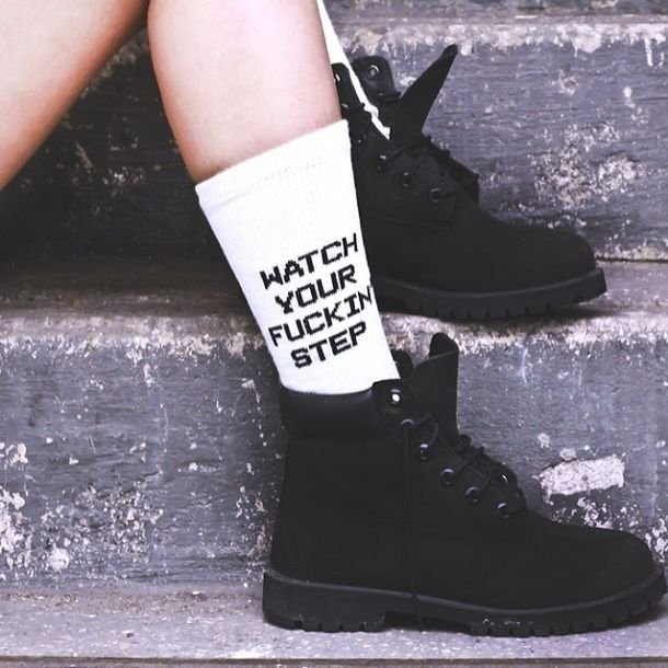 Watch Your F'in Step Socks - $18