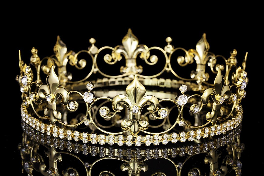 Amazon Com Ornate 2 Quot Tall Fleur De Lis Full King Crown