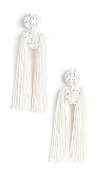 fleur earrings white jewels