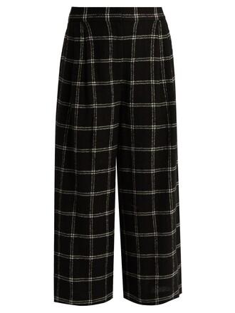 culottes wool black pants