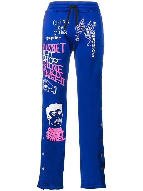 Filles à papa pants track pants women cotton blue