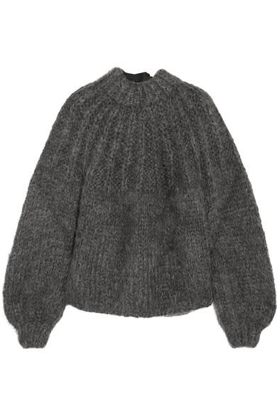 GANNI - Julliard open-back mohair and wool-blend sweater