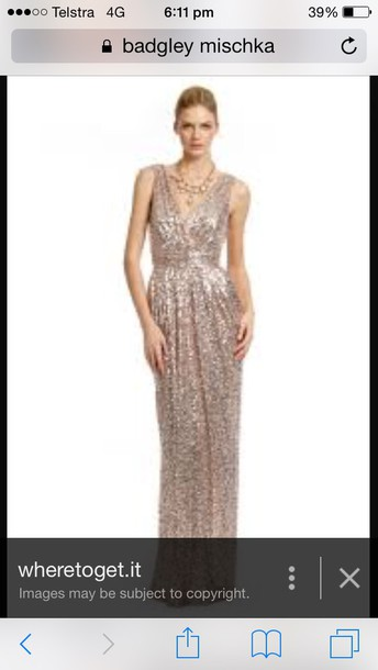 dress gold badgley mishka dresss