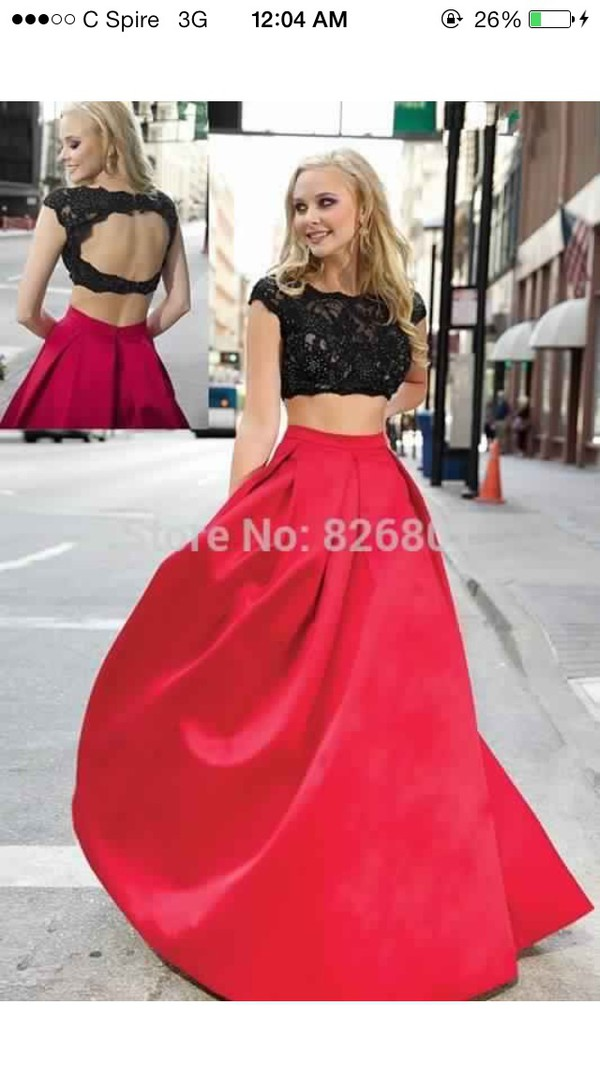 Cheap Pageant Dresses For Kids Two Pieces Red Black 2016 Pageant ...