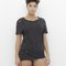 Nova distressed shredded hi-lo tunic t-shirt tee in black at flyjane
