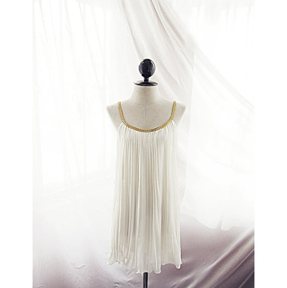Great Gatsby Ivory Cream Grecian Autumn by RiverOfRomansk on Etsy