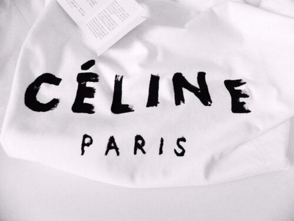 t-shirt celine celine paris shirt white paris top