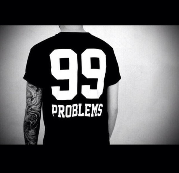 Swag Shirts 99 Shirt Black White 99 Problems
