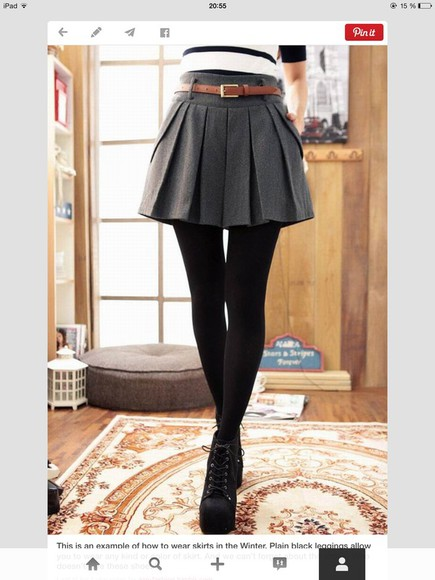 stripes fall outfits Belt black and white