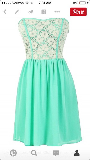 dress mint lace strapless dress turquoise lace