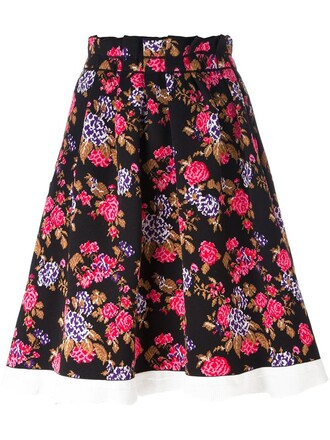 skirt tapestry floral black