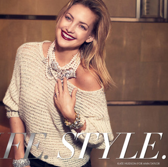 sweater fashion ann taylor lookbook kate hudson