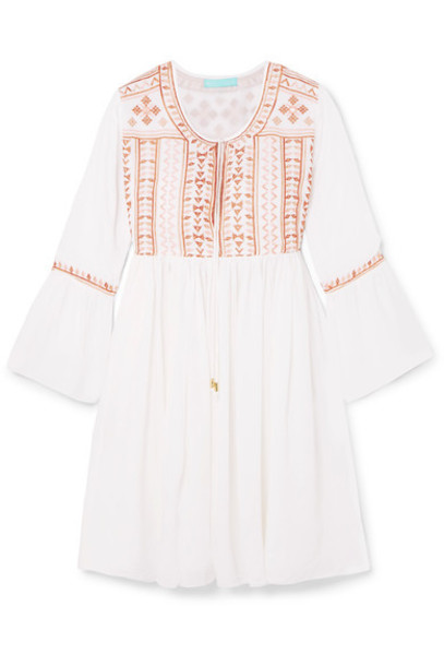 Melissa Odabash dress mini dress mini embroidered white