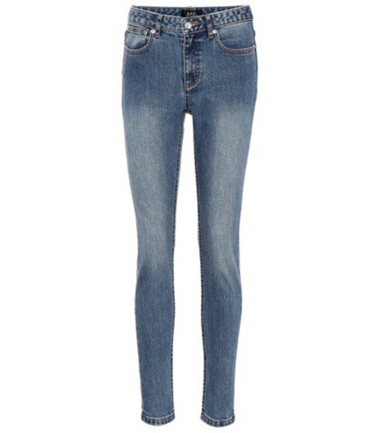 A.P.C. High Standard skinny jeans in blue