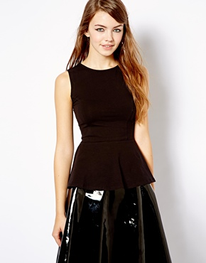 New Look | New Look Jersey Peplum Top at ASOS