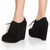Chelsea Crew Escalate Black Suede Oxford Wedges - $87.00 ($50-100) - Svpply