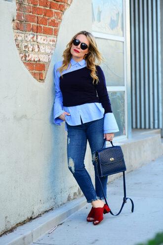 thehuntercollector blogger shirt top sunglasses bag
