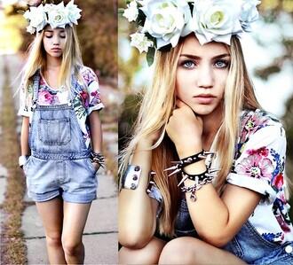 ukraine aksinya air top floral denim