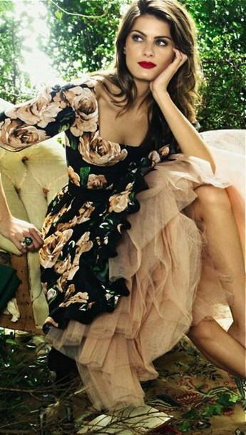 dress black floral floral dress pink feminine dress elegant dress