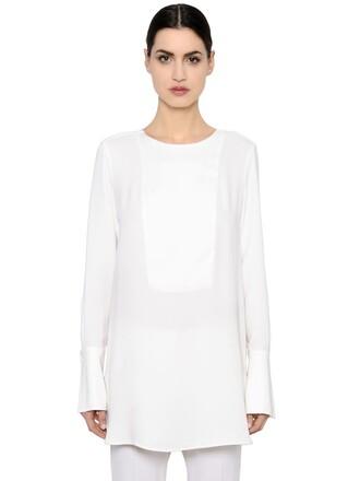 blouse long silk top