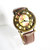 New! 3D Floral Watch, Vintage Style Leather Watch, Women Watches, Boyfriend Watch,
