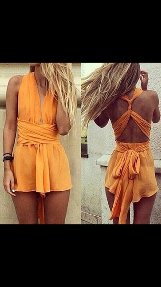 dress summer beach orange