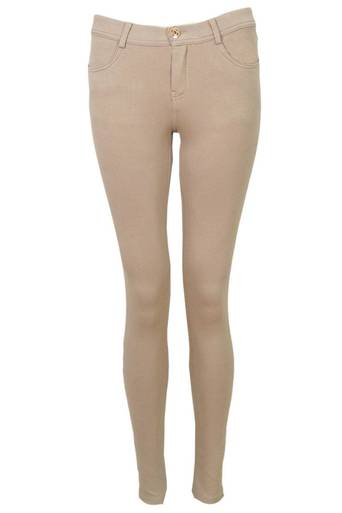 Cyrilla Jersey Skinny Trouser in Mink - Pop Couture