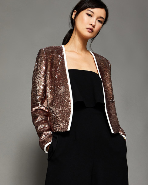 Ted Baker jacket sequin jacket rose gold rose gold