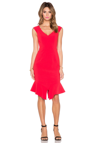 Black Halo dress red