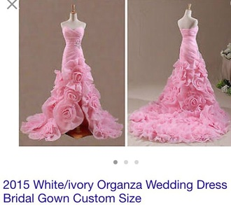 dress wedding dress wedding clothes wedding wedding accessories rose roses flowers pink pink dress girly girl girly wishlist love jewels diamonds engagement ring sparkle sparkly dress fashion style cute cute dress ball gown dress mermaid sexy dress