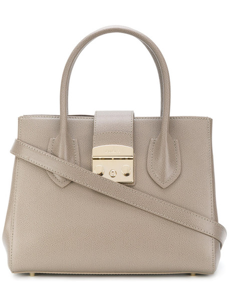 Furla women leather nude bag