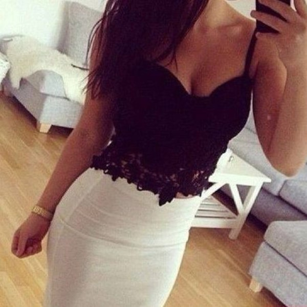 top clothes skirt