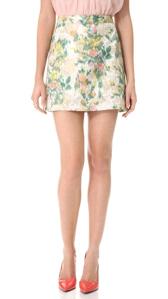 olivia Riley Floral A Line Skirt | SHOPBOP