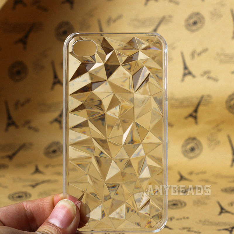 Crystal clear diamond grain transparent case cover for apple iphone5 5s whd760