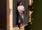 garance dore,blogger,jeans,blouse,midi skirt,sandals,shirt