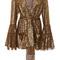 Foiled diamond fringe jacket | moda operandi