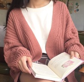 sweater,pink,rose,rosy,rose gold,cardigan,oversized cardigan,simple fahsion,cute,fall sweater,fall outfits