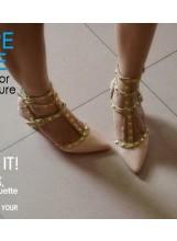 Studded Kitten Heels