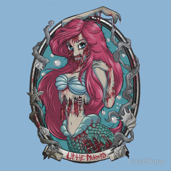 shirt the little mermaid the little mermaid punk zombie