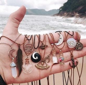 jewels necklace beach yin yang cute boho chic hipster