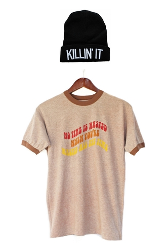 urban outfitters hipster clothes vintage t-shirt fall outfits wasted beanie justvu.com killin' it mens t-shirt blogger