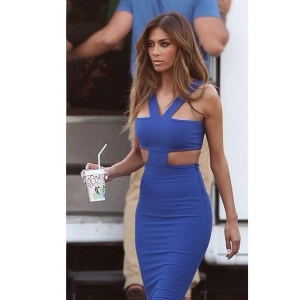 Dress: blue dress, nicole scherzinger, this dress i want ...